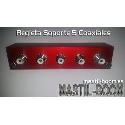 Soporte Regleta 5 Coaxiales