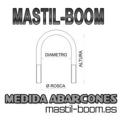 "Abarcón ""U"" 40mm Inox M-6 Largo 100mm"
