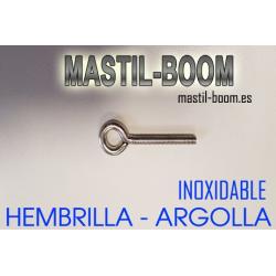 Hembrilla (Argolla) M-6x40mm INOX.