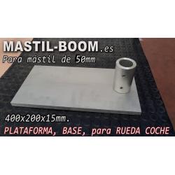 Base Rueda Coche para Mástil 50mm
