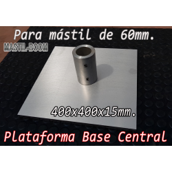 Base Placa Central para Mástil 60mm